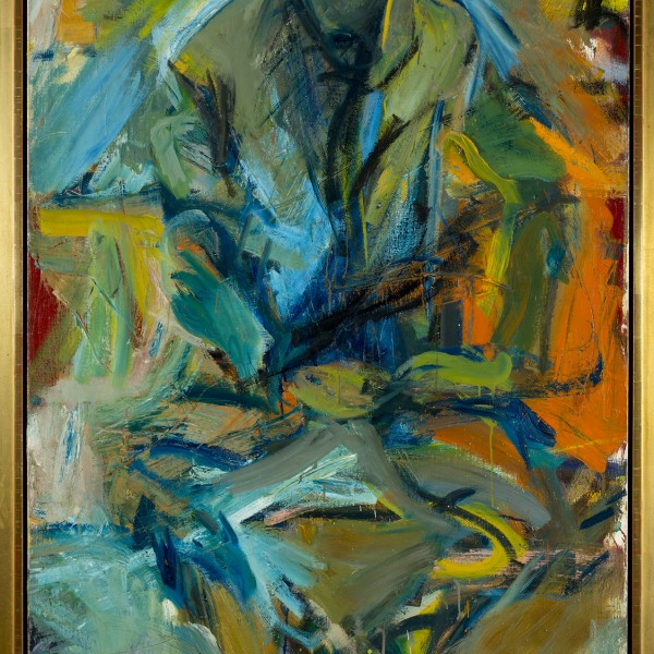 Bill at St. Mark's, Elaine de Kooning, 1956, oil on canvas, 72x44""